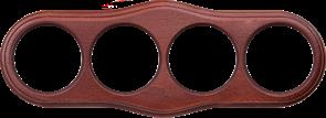 Рамка на 4 поста (итальянский орех) WL20-frame-04