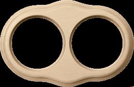 Рамка на 2 поста (светлый бук) WL20-frame-02