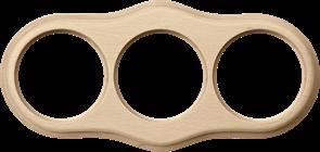 Рамка на 3 поста (светлый бук) WL20-frame-03