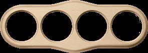 Рамка на 4 поста (светлый бук) WL20-frame-04