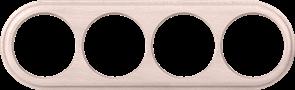 Рамка на 4 поста (беленый дуб) WL15-frame-04