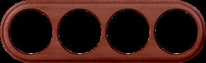 Рамка на 4 поста (итальянский орех) WL15-frame-04