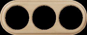 Рамка на 3 поста (светлый бук) WL15-frame-03