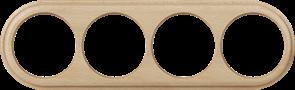 Рамка на 4 поста (светлый бук) WL15-frame-04