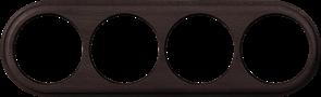 Рамка на 4 поста (венге) WL15-frame-04