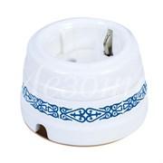 Розетка ретро керамическая Медео Лазурь Мезонин GE70301-77