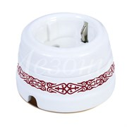 Розетка ретро керамическая Медео Пурпур Мезонин GE70301-78