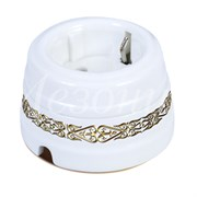 Розетка ретро керамическая Медео Золотой Мезонин GE70301-79