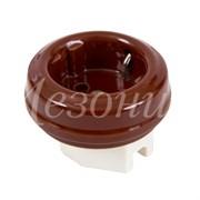Розетка без подъемной рамки Коричневая Мезонин GE70301-04K