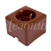 Розетка фарфоровая квадратная коричневая Мезонин GE80301-04