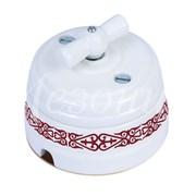 Выключатель керамический ретро Орнамент Медео  Пурпур Мезонин GE70401-77 GE70401-78