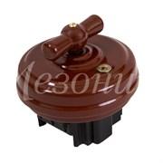 Выключатель Коричневый  без подъемной рамки Мезонин GE70401-04К