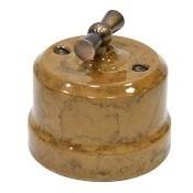 Выключатель ретро керамический Капучино Lindas  34030