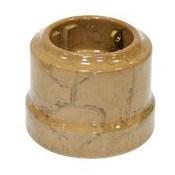 Розетка ретро керамическая с заземлением Капучино, Lindas 35030
