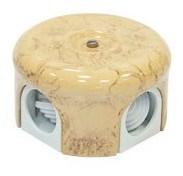 Распределительная коробка ретро, керамическая  Карамель Кедр Lindas 33031