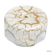 Распределительная коробка ретро керамическая Мрамор