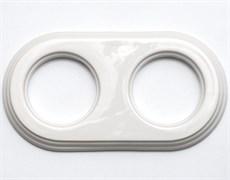Рамка керамическая 2х-местн. под розетки/выключатели