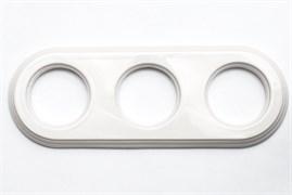 Рамка керамическая 3х-местн. под розетки/выключатели