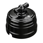 Выключатель ретро пластиковый Черный Мезонин GE30401-02