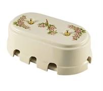 Коробка распределительная ретро фарфоровая розовые цветы Leanza Fiori Rosa КР8РЗ