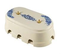 Коробка распределительная ретро фарфоровая голубые цветы Leanza Fiori Viola КР8ВЗ