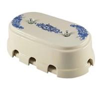 Коробка распределительная ретро фарфоровая синие цветы цветы Leanza Fiori Viola КР8ВС