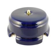 Коробка распределительная ретро фарфоровая лазурная Leanza Azzurro КРЛЗ