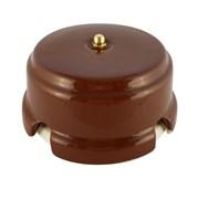 Коробка распределительная ретро фарфоровая коричневая Leanza Bruno КРКЗ