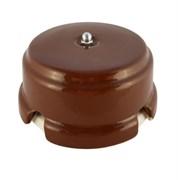 Коробка распределительная ретро фарфоровая коричневая Leanza Bruno КРКС
