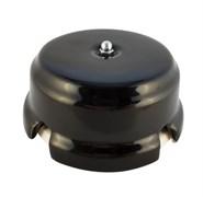 Коробка распределительная ретро фарфоровая черная Leanza Nero КРЧC