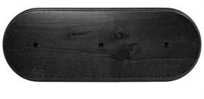 """Универсальная подложка 3х-местн. ЭС """"Черная"""" под розетки выключатели ретро"""