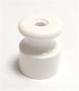 Изолятор пластиковый ретро белый