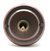 Выключатель ретро однорычажковый Медь  PETRUCCI 302SCUPO