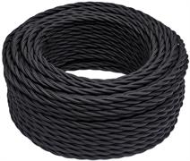 Провод витой ретро цвет Черный BIRONI B1-424-73