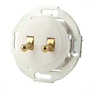 Выключатель 2кл, тумблерный Vintage 882304-1, белый/золото LK STUDIO 882304-1