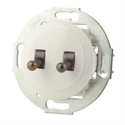 Выключатель 2кл, тумблерный Vintage 882304-1, белый/бронза LK STUDIO 882304-2