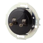 Выключатель 2кл, тумблерный Vintage 882305-2, Черный/Бронза LK STUDIO 882305-2