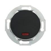 Ретро выключатель одноклавишный с индикатором 10А, 250В (черный) Vintage LK STUDIO 880208