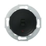 Ретро выключатель 1-рычажковый с индикатором 10А, 250В (черный)  Vintage LK STUDIO 880908-1