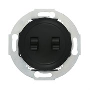 Ретро выключатель 2-рычажковый 10А, 250В (черный) Vintage LK STUDIO 882308-1