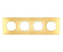 Рамка 1-постовая квадрат (золотой) Vintage-Quadro 884416-1