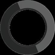 Рамка стеклянная на 1 пост Черная  Werkel WL21-frame-01