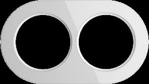 Рамка стеклянная на 2 поста Белая  Werkel WL21-frame-02