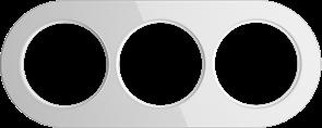 Рамка стеклянная на 3 поста Белая  Werkel WL21-frame-03