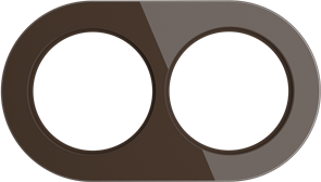 Рамка стеклянная на 2 пост Коричневая  Werkel WL21-frame-02