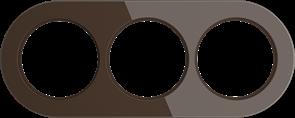 Рамка стеклянная на 3 поста Коричневая  Werkel WL21-frame-03