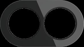 Рамка стеклянная на 2 пост Черная  Werkel WL21-frame-02