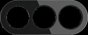 Рамка стеклянная на 3 поста Черная  Werkel WL21-frame-03