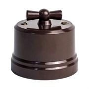 Ретро выключатель пластиковый коричневый EDISEL ВASIC KBSw1-03