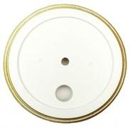 Подложка 1-местн. деревянная ретро Белая с золотом EDISEL GRANDE GR-WG-1